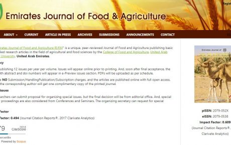 Emirates Journal of Food and Agriculture [EJFA]